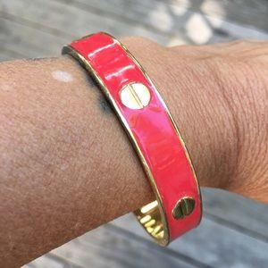 Vince Camuto Red/Gold Bangle Bracelet